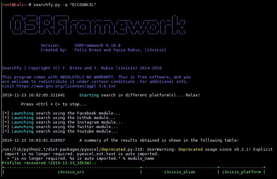 ابزار کاربردی OSRFramework