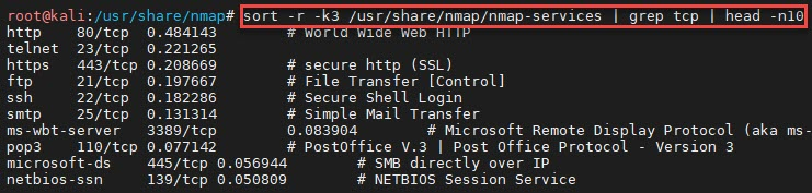 Nmap-services